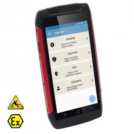 Vigicom ATI-3680Ex: Smartphone PTI certifié ATEX zone 2