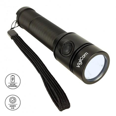 Vigicom LT-3B0W : Lampe torche compacte pour agent de sécurité