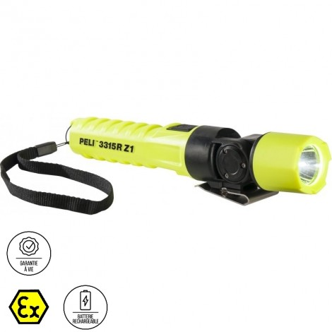 Vigicom® LT-3315R : Lampe torche Atex Zone 1/21 garantie à vie