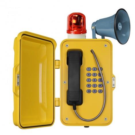 Vigicom: Téléphone d'atelier IP67 pour environnement bruyant et poussiéreux