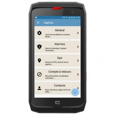 Vigicom Smart-DATI®: Application Mobile compatible Crosscall Core-X3, Action-X3, Trekket-X4,