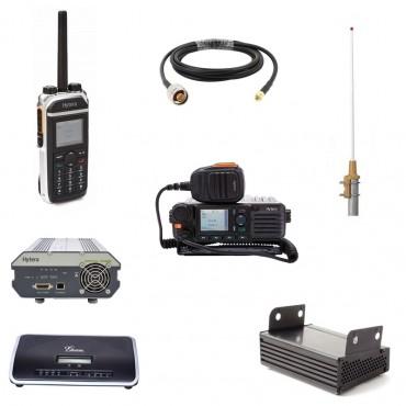Vigicom® PMR-PTI/TEL: Pack radio PTI clé en main avec transmetteur d'appel vocal