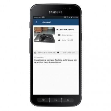 Détail Main courante sur smartphone