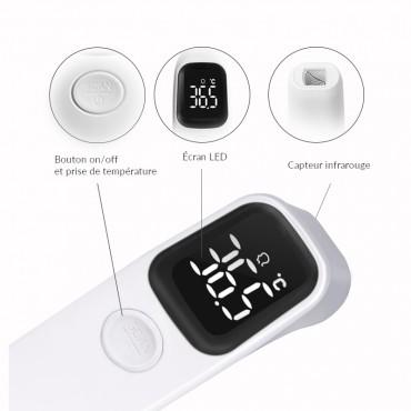 Vigicom® TH-IR02 : Thermomètre infrarouge médical avec précision de 0.1°C