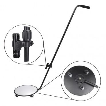 Vigicom® MI-1200 : Mirroir de contrôle sous véhicule avec roulettes et éclairage LED