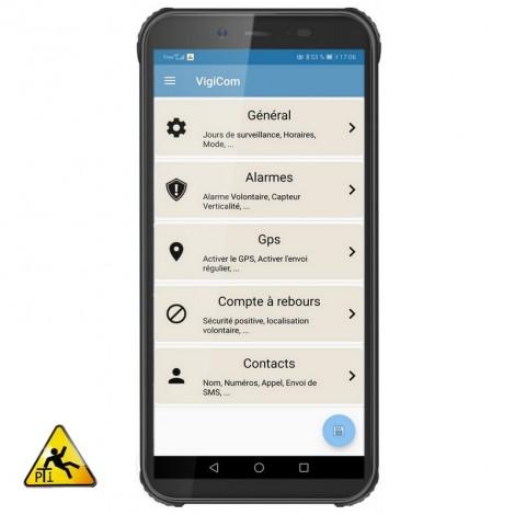 Vigicom® ATI-3540: Smartphone Tout-terrain pour la protection des travailleurs isolés