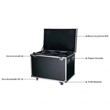 Vigicom® BOX-980 : Flight case pour portique de sécurité mobile PS-980