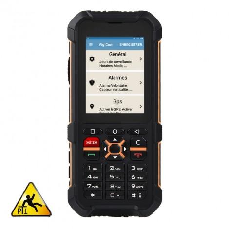 Vigicom® ATI-3520TP : Téléphone mobile industriel PTI avec écran tactile et clavier à touches