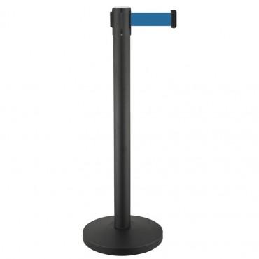 Vigicom® PS-guide: Poteau guide file avec ruban déroulable de 3 mètres